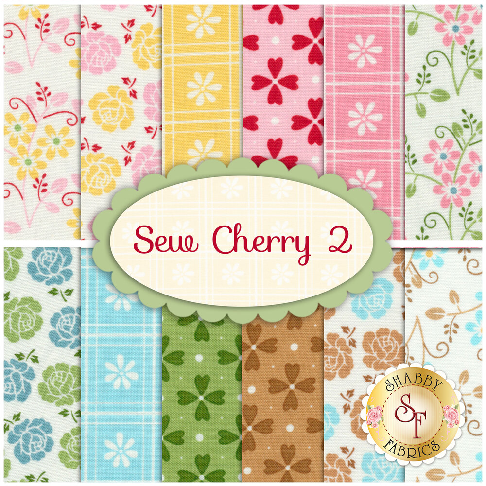 Sew Cherry 2  12 FQ Set by Lori Holt for Riley Blake Designs