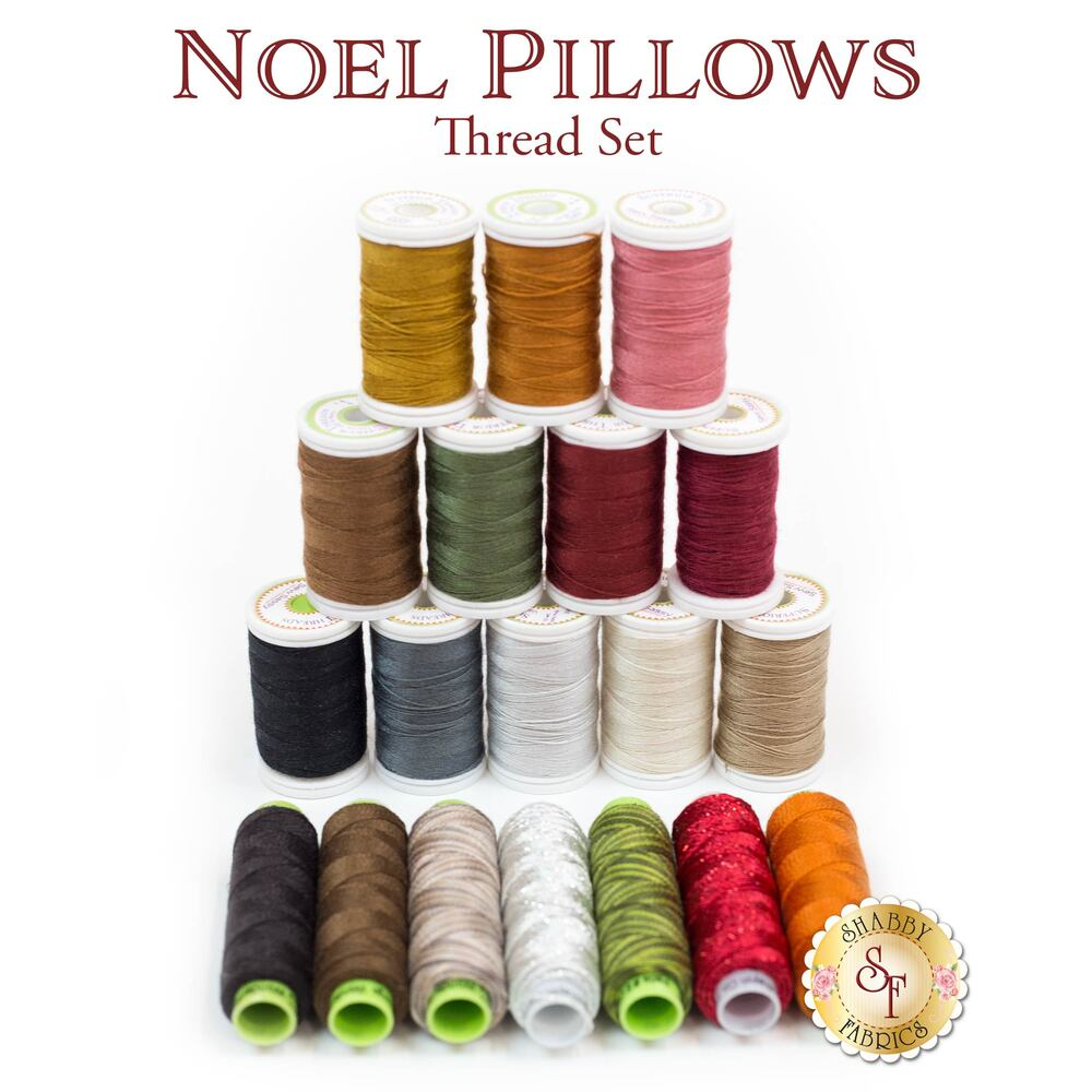 Noel Pillows Thread Set - 19pc Thread Set