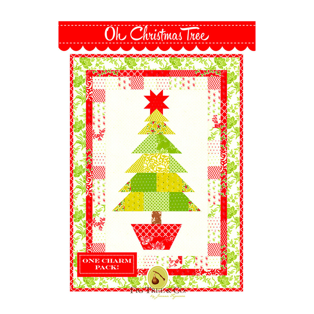 The front of the Oh Christmas Tree pattern | Shabby Fabrics