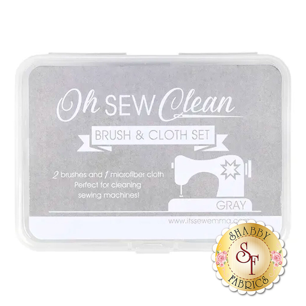 Oh Sew Clean - Brush & Cloth Set - Gray