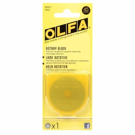 Olfa 45mm Rotary Blades - 1 count