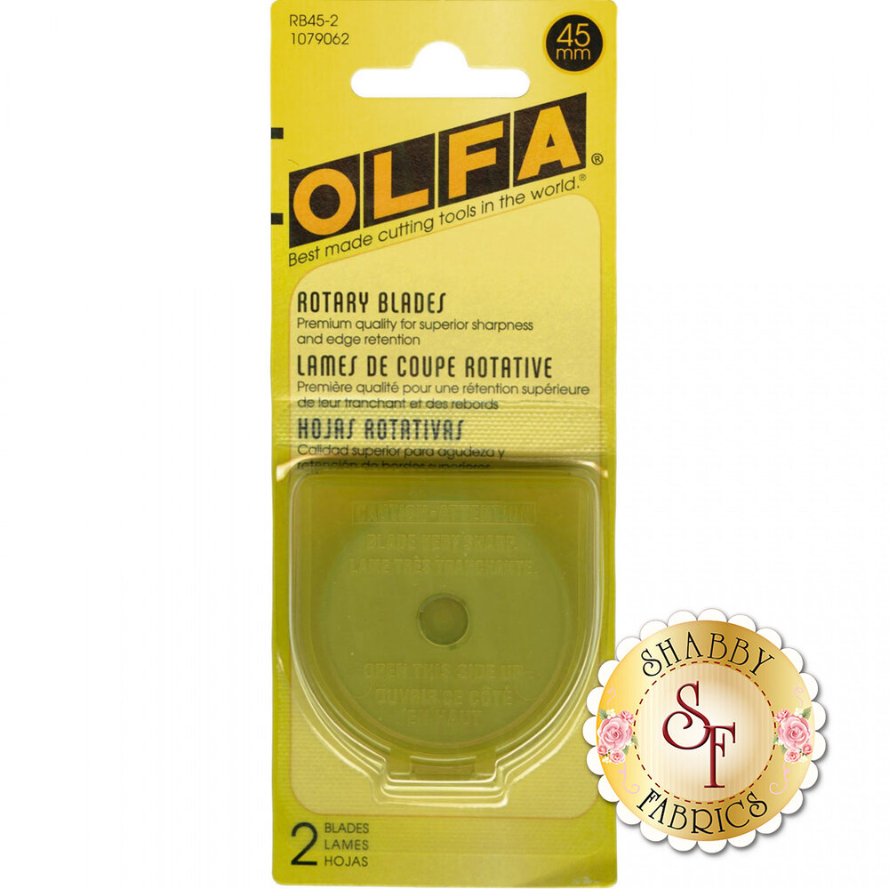 Olfa 45mm Rotary Blades - 2 count | Shabby Fabrics