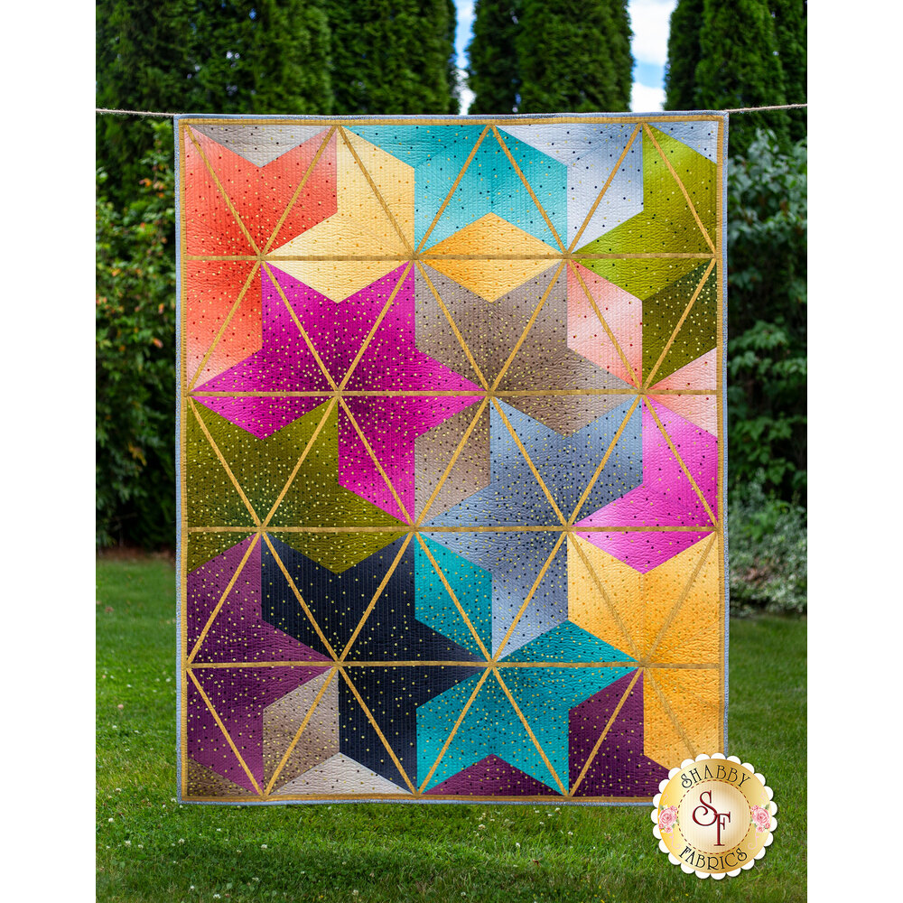 Ombre Blossoms Quilt Kit available at Shabby Fabrics