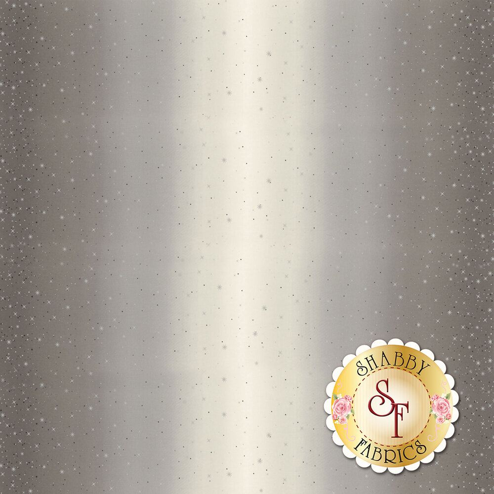 Gray ombre with metallic stars and starbursts | Shabby Fabrics