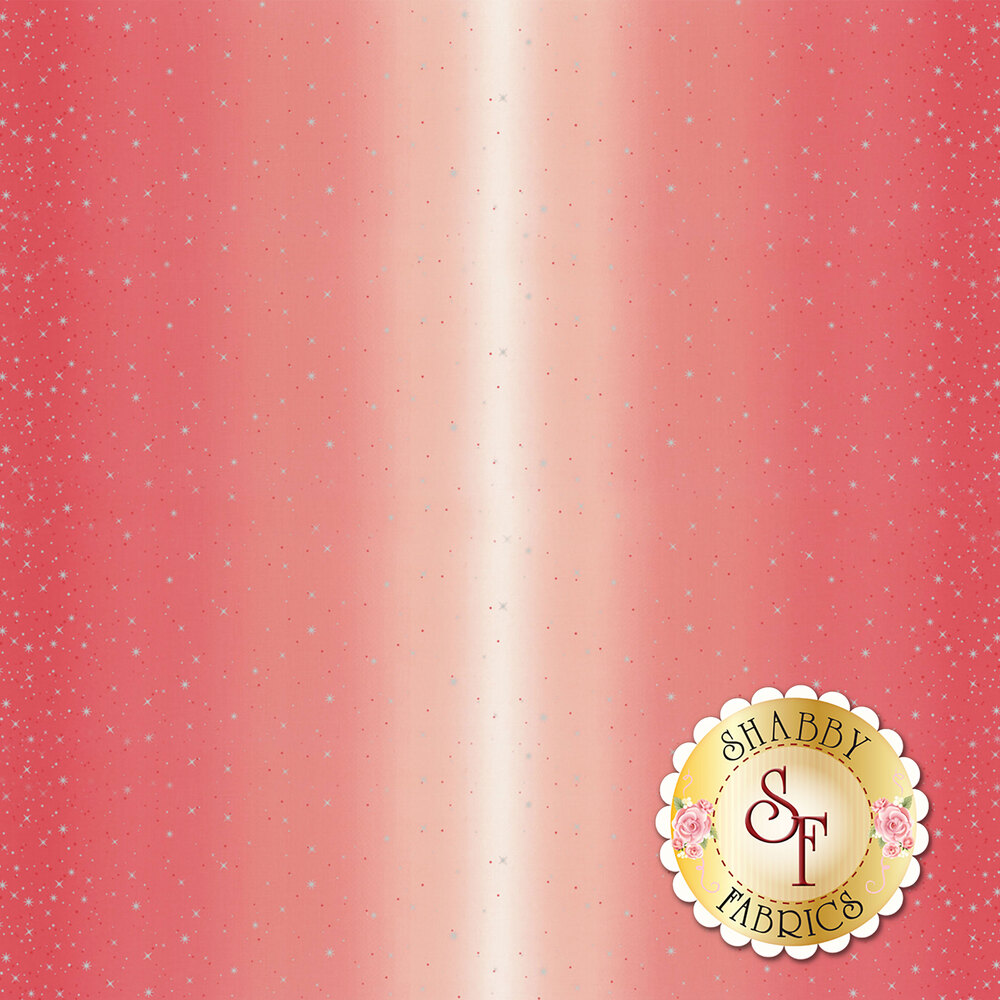 Hot pink ombre with metallic stars and starbursts | Shabby Fabrics