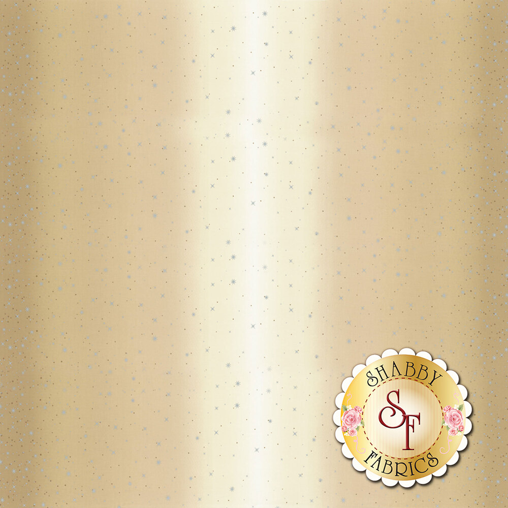 Tan ombre with metallic stars and starbursts | Shabby Fabrics