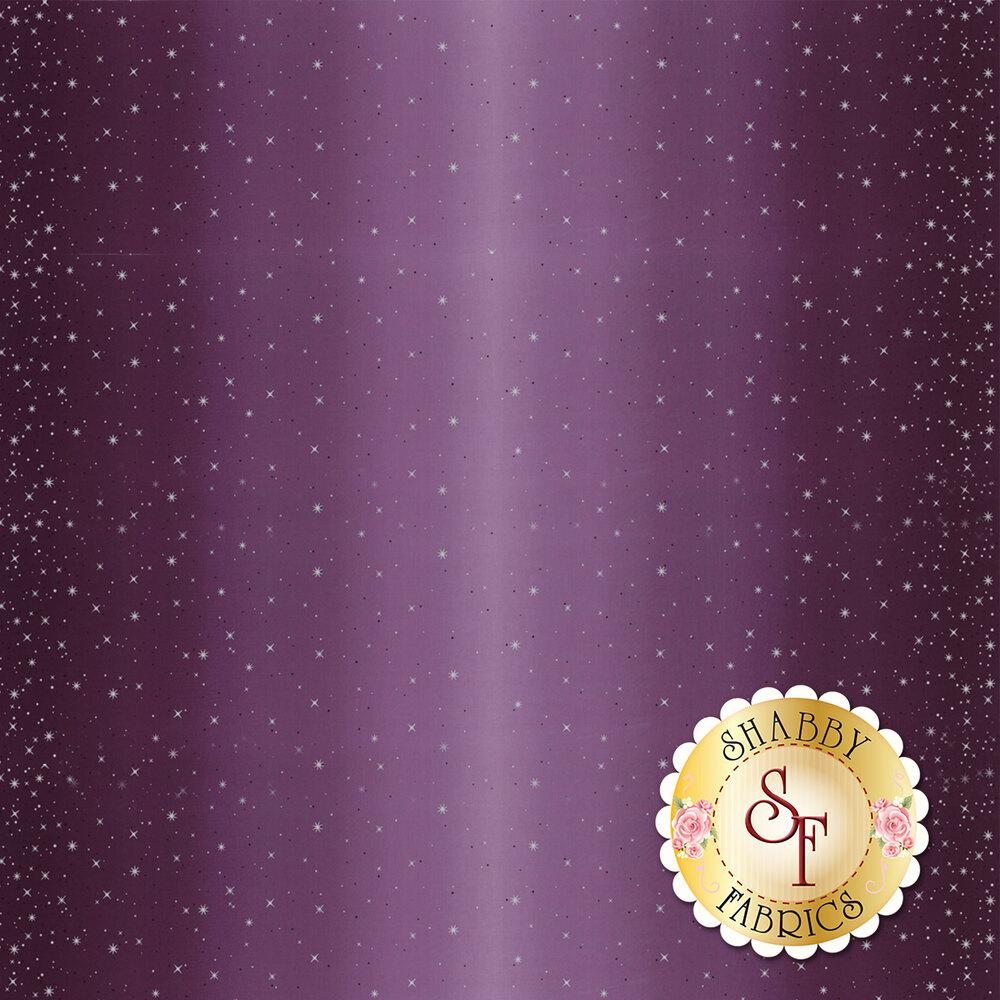 Purple ombre with metallic stars and starbursts | Shabby Fabrics