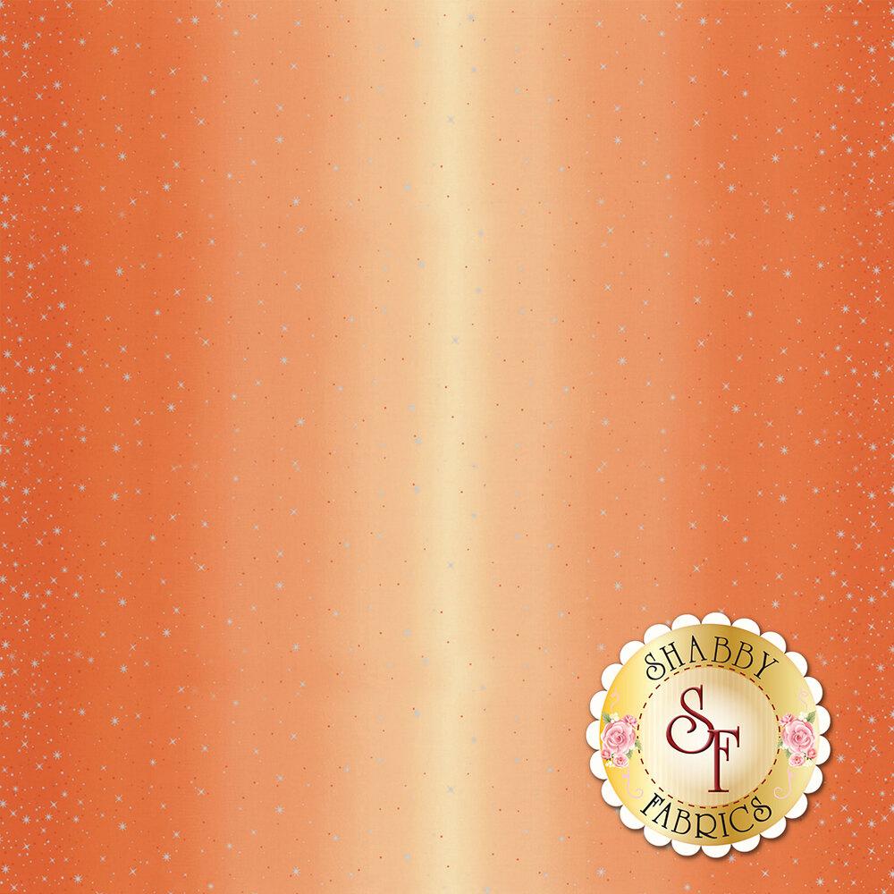 Tangerine ombre with metallic stars and starbursts | Shabby Fabrics