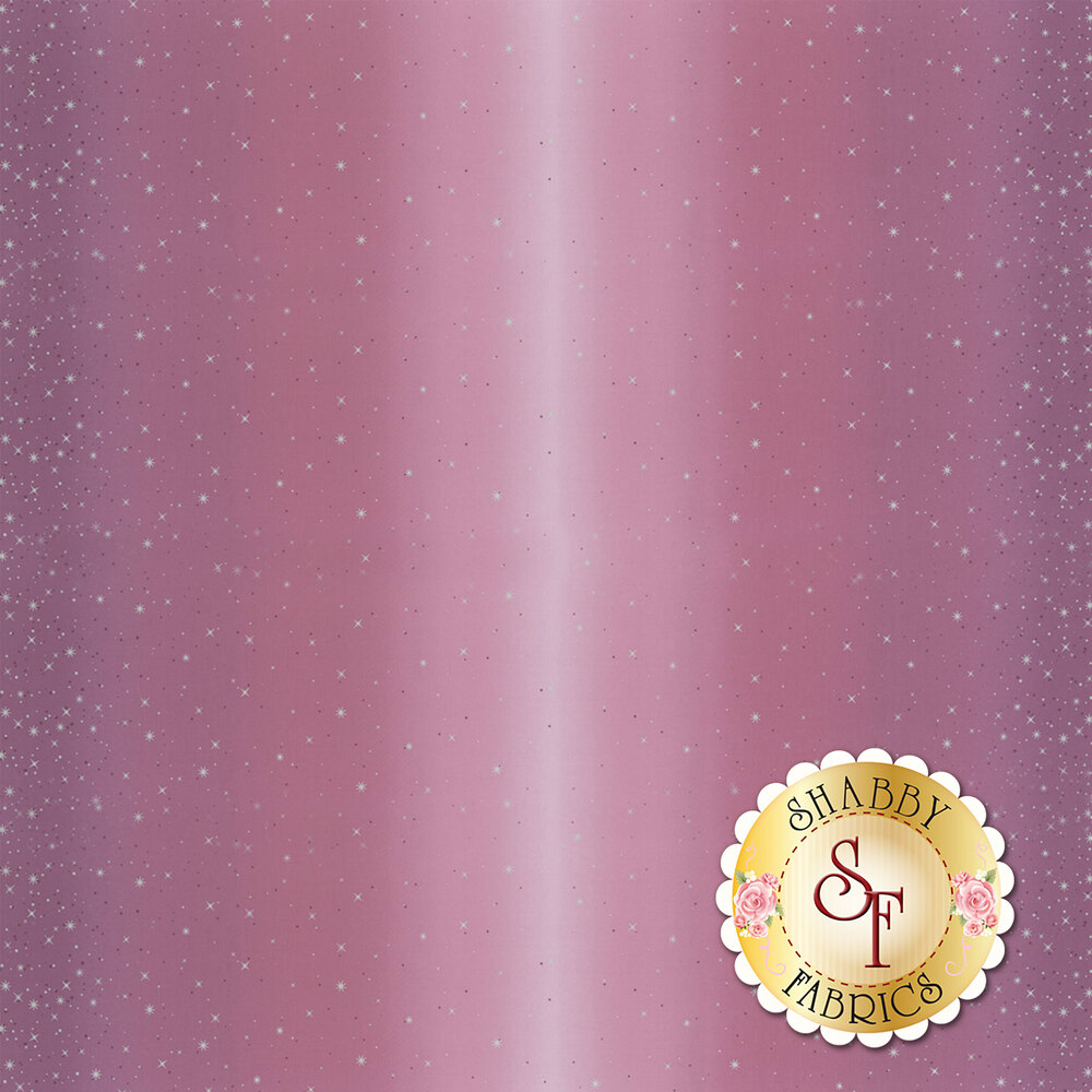 Mauve ombre with metallic stars and starbursts | Shabby Fabrics