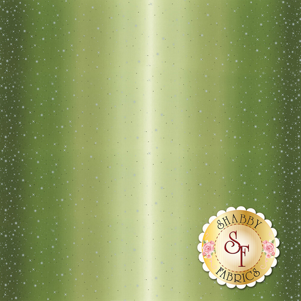 Evergreen ombre with metallic stars and starbursts   Shabby Fabrics