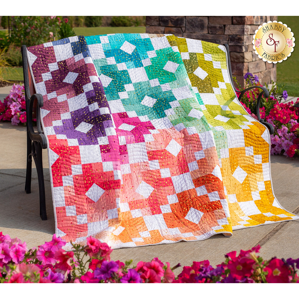 Ombre Gems Quilt Kit available at Shabby Fabrics