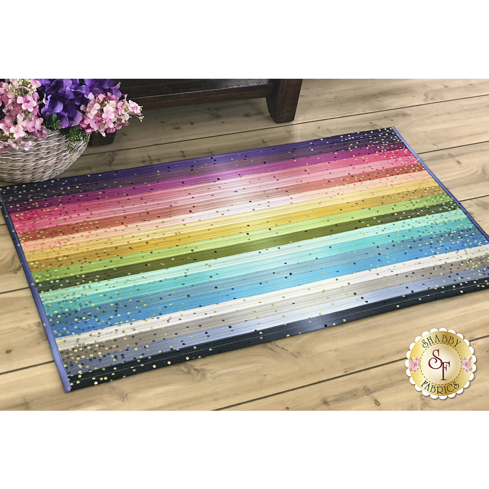 Jelly Roll Rug 2 Kit - Ombre Confetti Metallic available at Shabby Fabrics