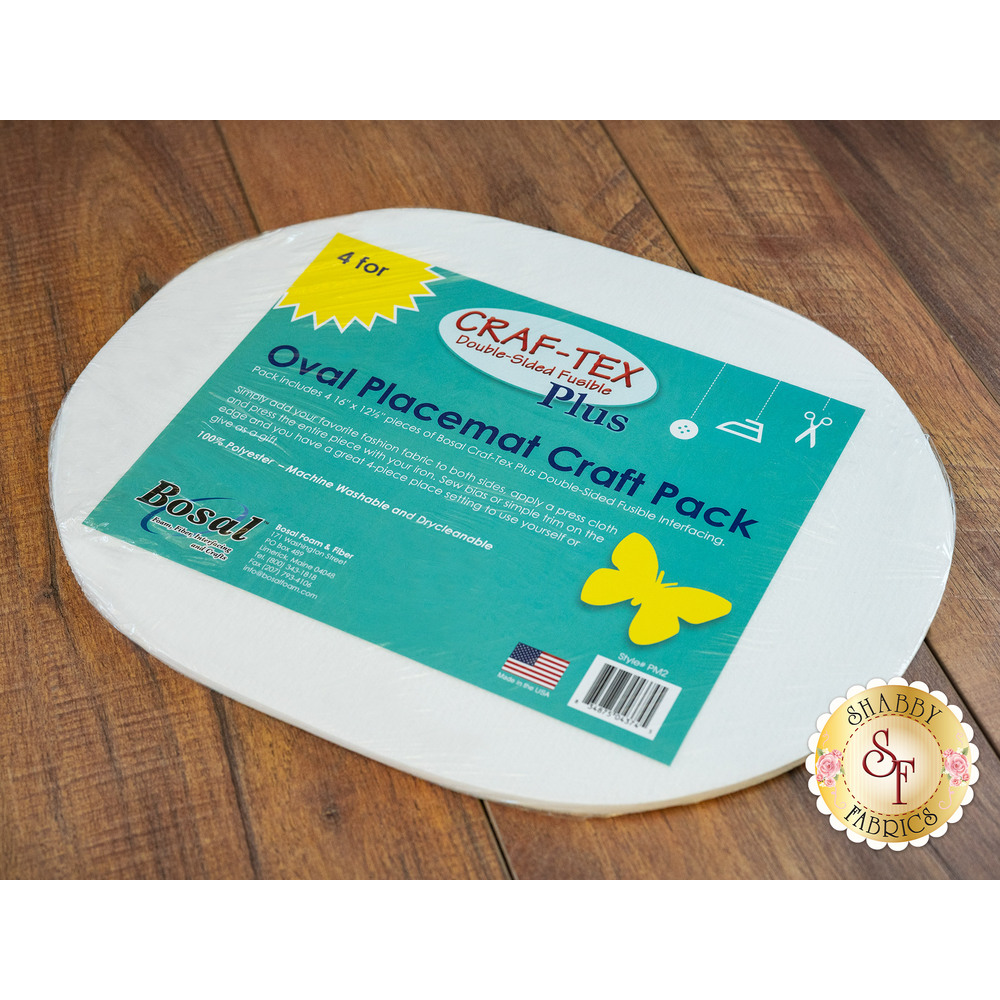 "Bosal Oval Placemat Craft Pack 16"" x 12-1/2"" - 4pk"