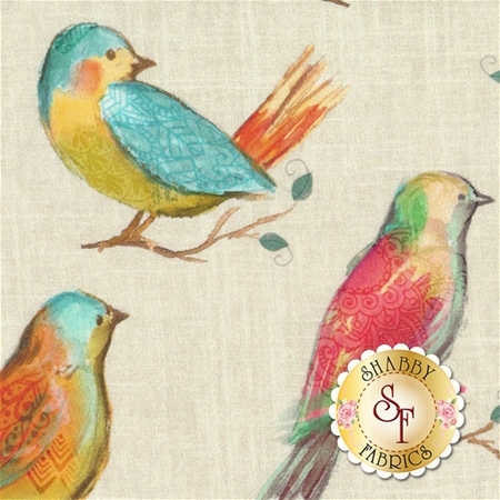All A Twitter P4390-145-Spring by Hoffman Fabrics
