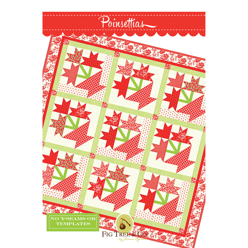 The front of the Poinsettia pattern | Shabby Fabrics