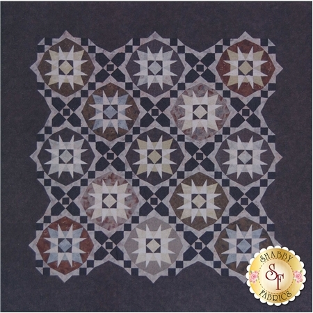 Mixed geometric Sawtooth Star block in a tiled pattern.