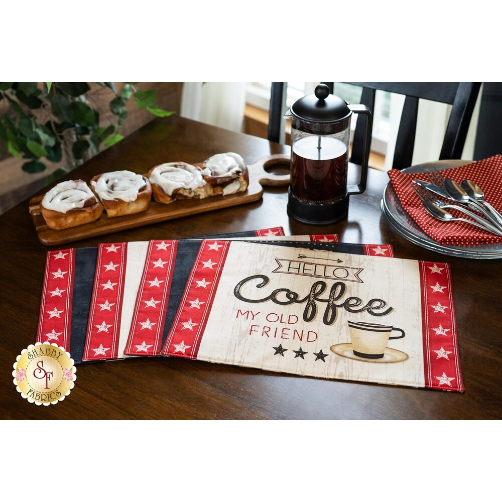 Panel Placemat - Coffee Time - Makes 4 | Shabby Fabrics