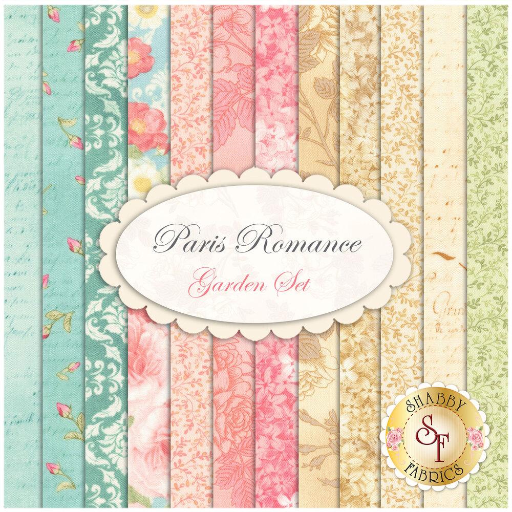 Paris Romance  12 FQ Set - Garden Set by Robert Kaufman Fabrics