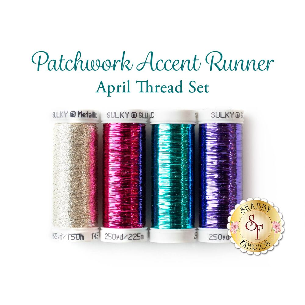 Patchwork Accent Runner - Eggs - April - 4 pc Thread Set available at Shabby Fabrics