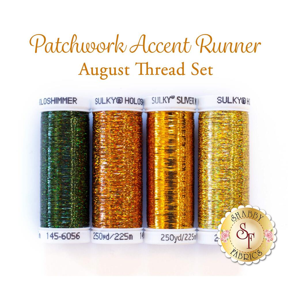 Patchwork Accent Runner - Sunflowers - August - 4 pc Thread Set