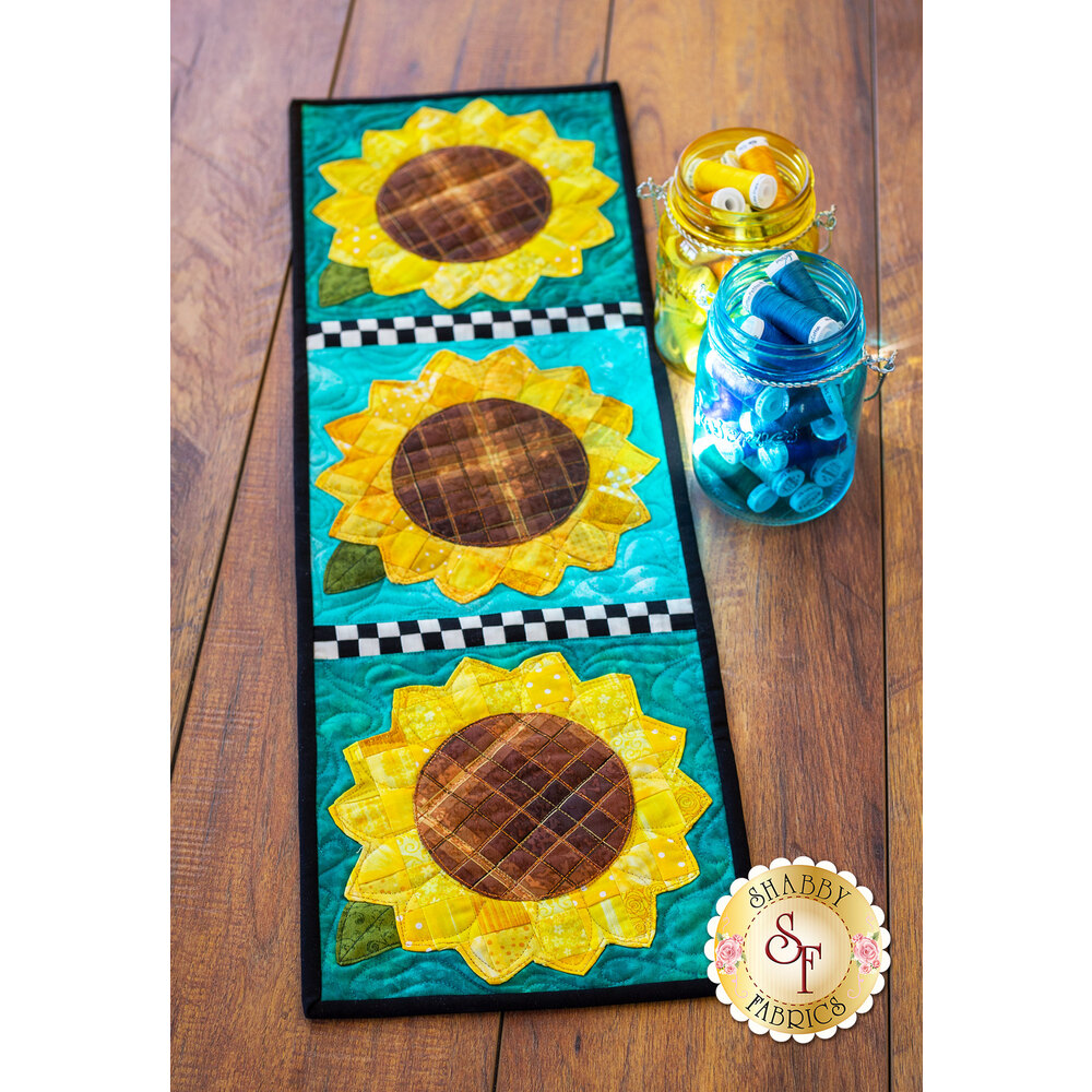 Patchwork Accent Runner - Sunflowers - August - Pattern