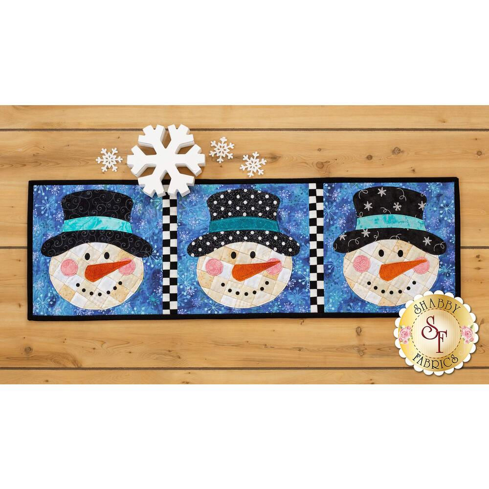 Patchwork Accent Runner - Snowmen - January - Pattern