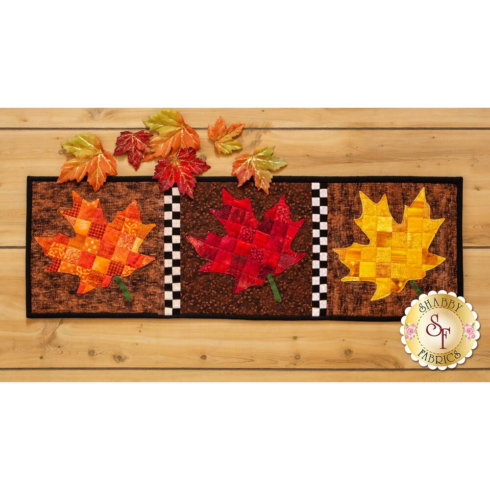 Patchwork Accent Runner - Leaves - November - Kit