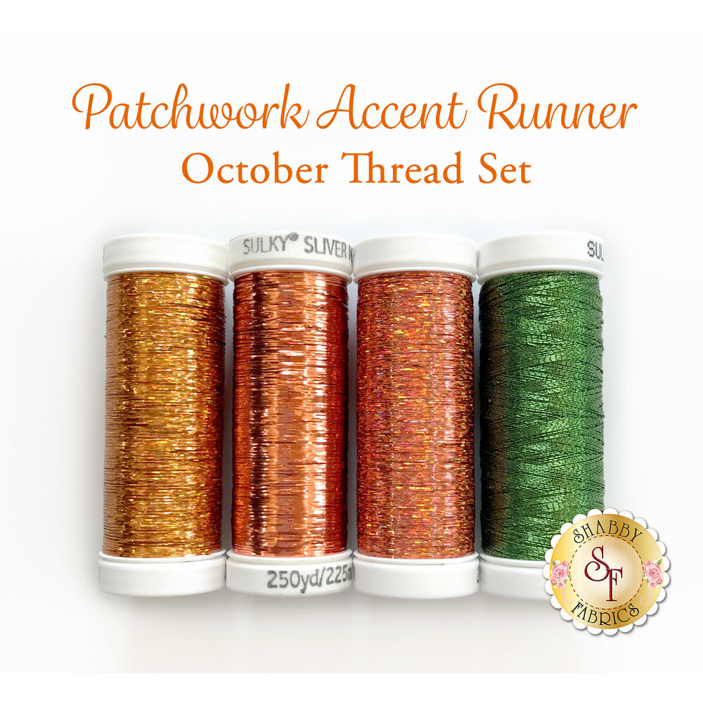 Patchwork Accent Runner Pumpkins - October Thread Set - for Sulky