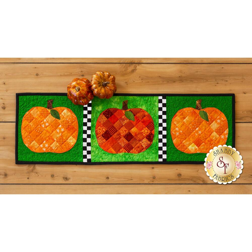Patchwork Accent Runner - Pumpkins - October - Pattern