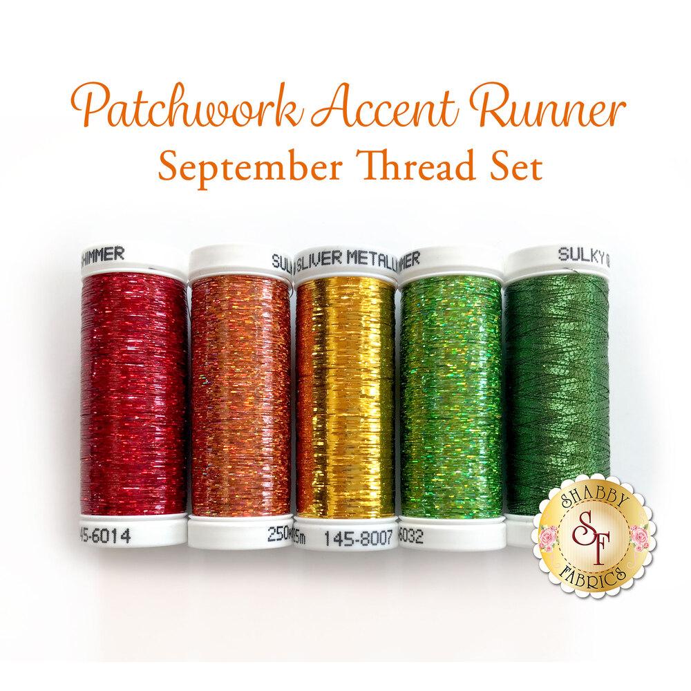 Patchwork Accent Runner Apples - September Thread Set for Sulky Thread
