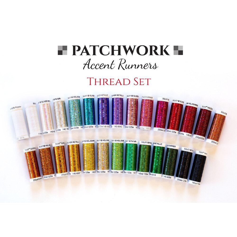 Patchwork Accent Runner Thread Set - 28pc