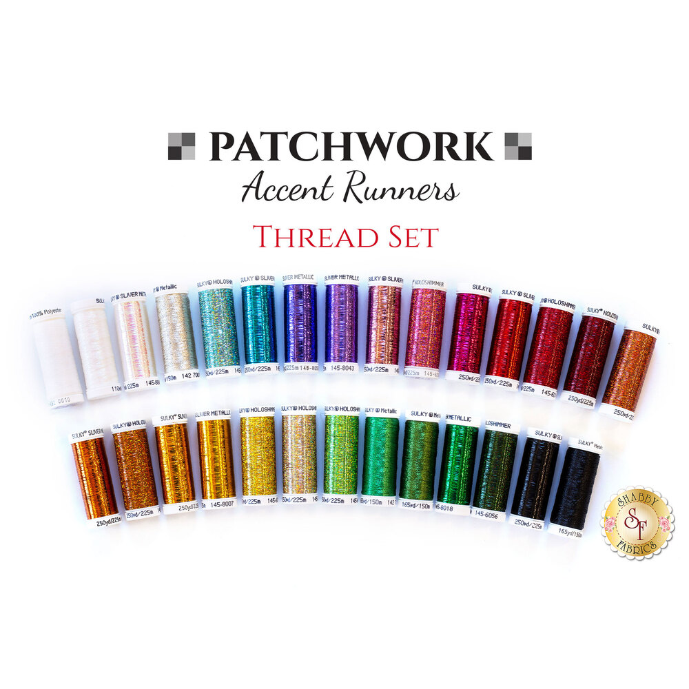 Patchwork Accent Runner - 28 pc Thread Set