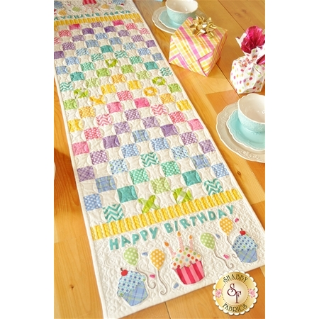 Patchwork Birthday Table Runner Pattern