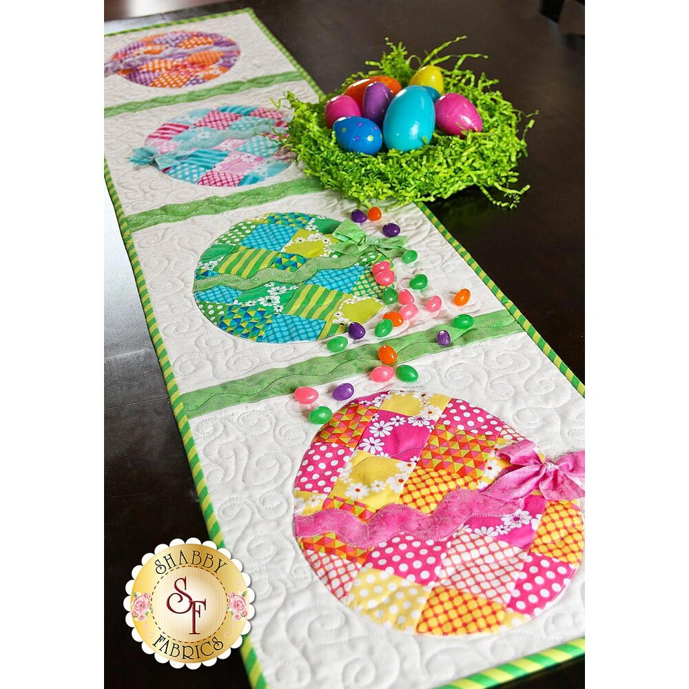 Patchwork Easter Egg Table Runner Pattern