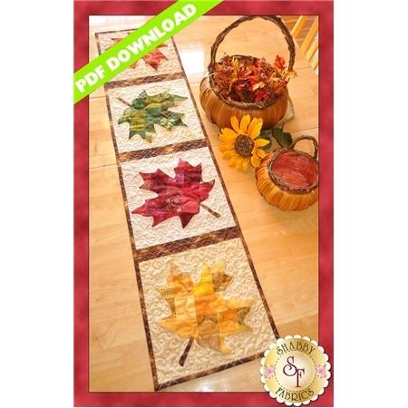 Patchwork Maple Leaf Table Runner - PDF DOWNLOAD