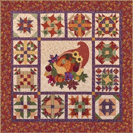 Patchwork Party 2011: Cornucopia - SAMPLE QUILT - Traditional Applique
