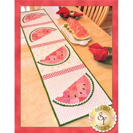 Patchwork Watermelon Table Runner Pattern