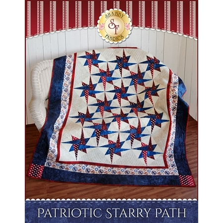 Patriotic Starry Path Quilt Pattern