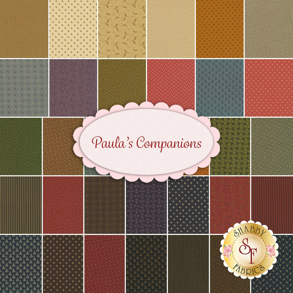 Paula's Companions  32 Fat Eighth Set by Marcus Fabrics