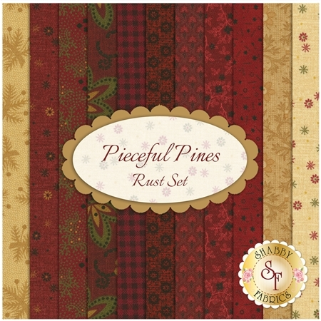 Pieceful Pines  11 FQ Set - Rust Set by Pam Buda for Marcus Fabrics