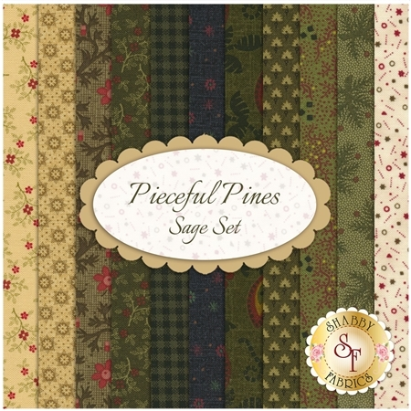Pieceful Pines  11 FQ Set - Sage Set by Pam Buda for Marcus Fabrics
