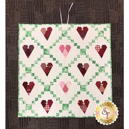 Pieced Hearts - SAMPLE Wall Hanging