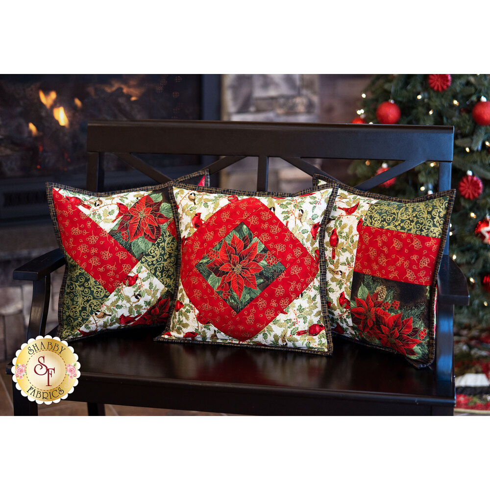 Three beautiful Pillow Covers made with the Social Butterfly fabric collection | Shabby Fabrics