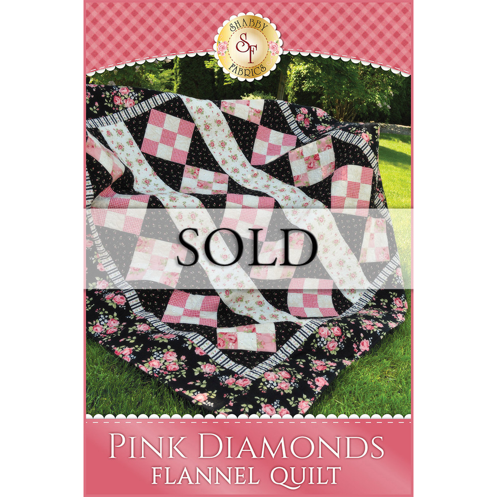 Pink Diamonds Flannel Quilt - SAMPLE QUILT