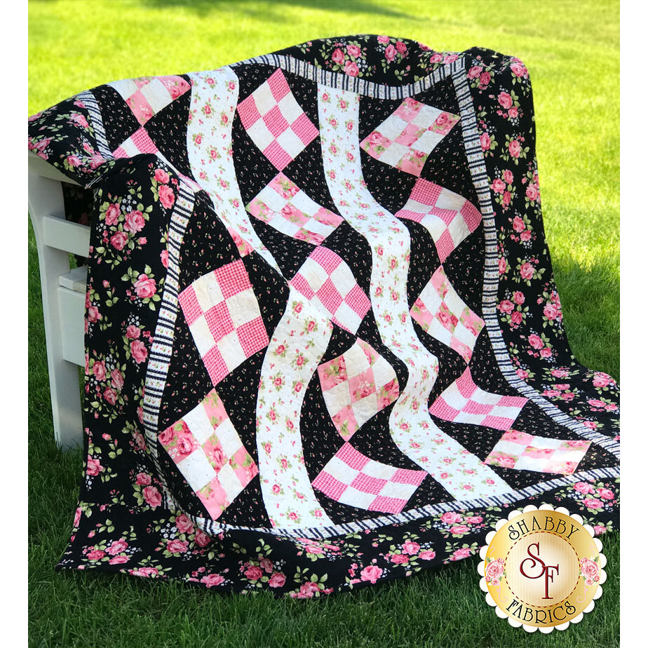 Pink Diamonds Flannel Quilt Kit