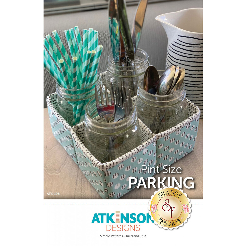 The front of the Pint Size Parking pattern showing the finished organizer | Shabby Fabrics