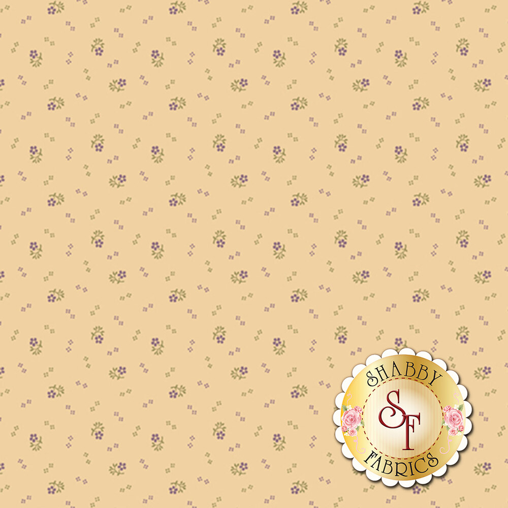 Small flowers clusters on a cream background | Shabby Fabrics