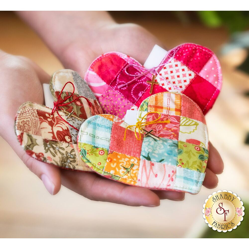 Patchwork Heart Pocket Prayer - PATTERN ONLY | Shabby Fabrics