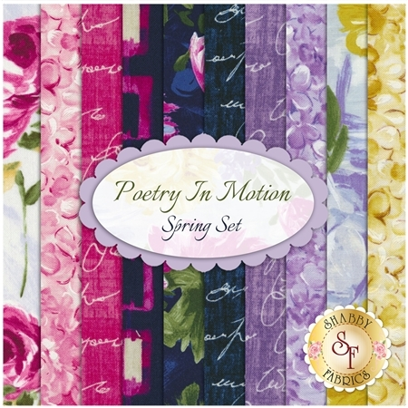 Poetry In Motion  10 FQ Set - Spring Set by Michael Miller Fabrics