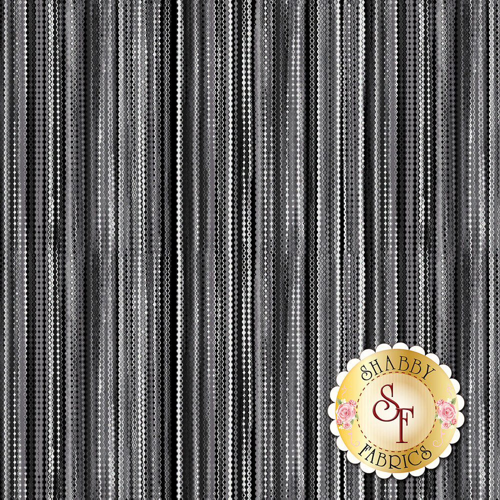 Tonal gray dotted stripe fabric | Shabby Fabrics